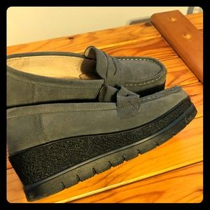 Soft grey loafers